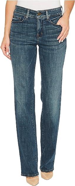 NYDJ - Marilyn Straight Jeans in Crosshatch Denim in Desert Gold