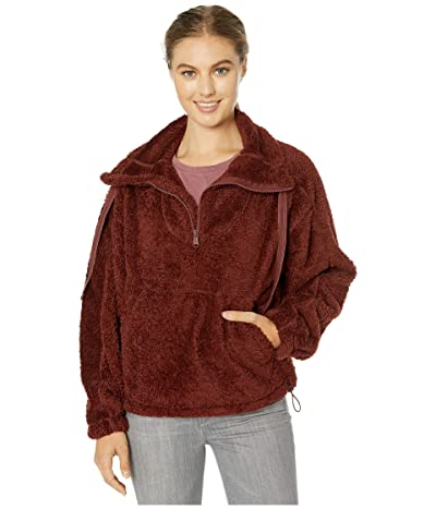 FP Movement Big Sky High Neck Pullover (Dark Red) Women