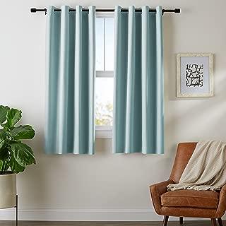 AmazonBasics Room Darkening Blackout Window Curtains with Grommets Set, 42