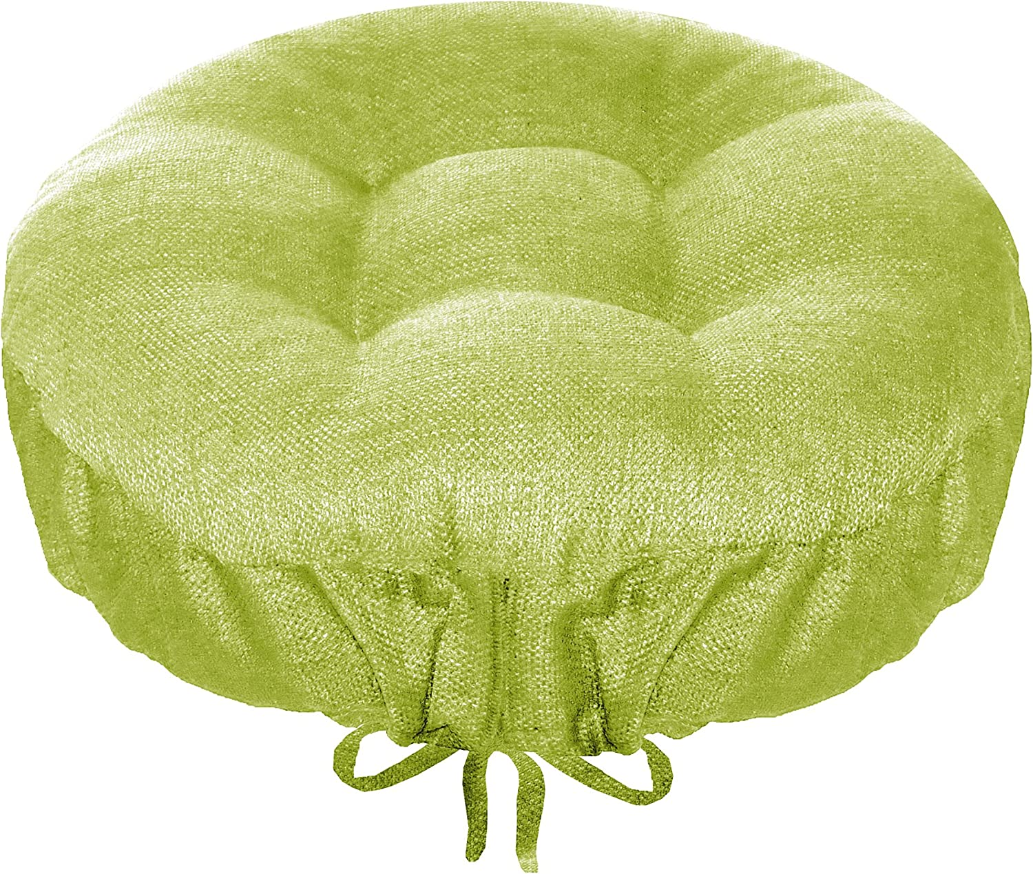 Bar Stool Cover - Rave Celery Green - Size Standard Indoor   Outdoor Barstool Cushion - Latex Foam Bar Stool Cushion with Adjustable Drawstring - Round