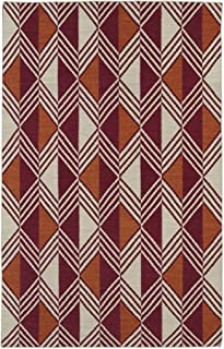 Kaleen Rugs Nomad Collection Flat-Weave Red Rug (9' x 12')