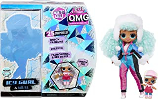 [NEW] L.O.L 서프라이즈 O.M.G 원터 칠 'ICY 걸' & '브루 비 비' 패션 인형 L.O.L. Surprise! O.M.G. Winter Chill ICY Gurl Fashion Doll & Brrr B.B. Doll with 25 Surprises