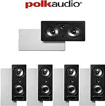 Polk Audio 265-RT + Polk Audio 255C-RT 5.0 Vanishing Series in-Wall Home Theater Speaker Package