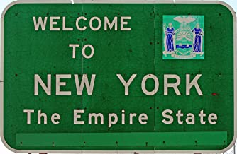 Welcome to New York State Sign Vinyl Sticker Decal 4