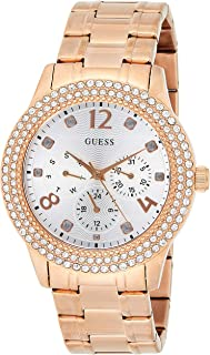 Guess Womens Quartz Watch, Analog Display and Stainless Steel Strap W1097L3
