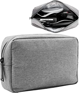 BOONA Waterproof Universal Electronic Accessories Travel Organizer Bag - Multifunction Gadgets Bag Pouch Carry Power Bank,Charging Cords,Chargers,Mouse,USB Cable,Earphones (Large,Grey)