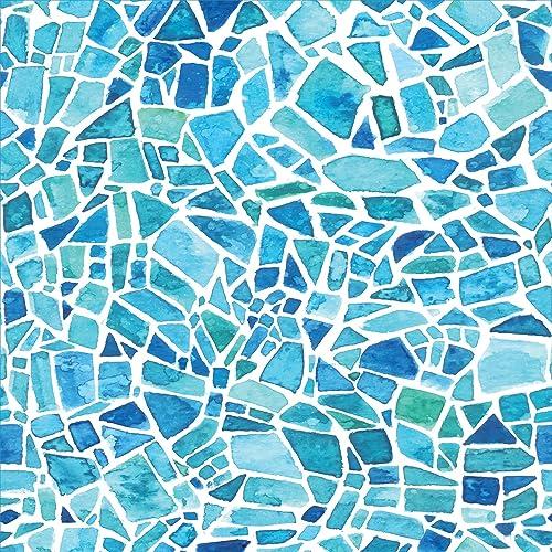 392a6ee3411 Home Decor Line CR-68415 Blue Mosaic Premium Window Film