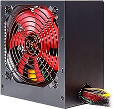 Mars Gaming MPII650 - Fuente de alimentación para PC (650 W, 12 V, PFC Activo, ATX, ventilador 12 cm, sistema anti-vibración, eficiencia + 85%), color rojo y negro
