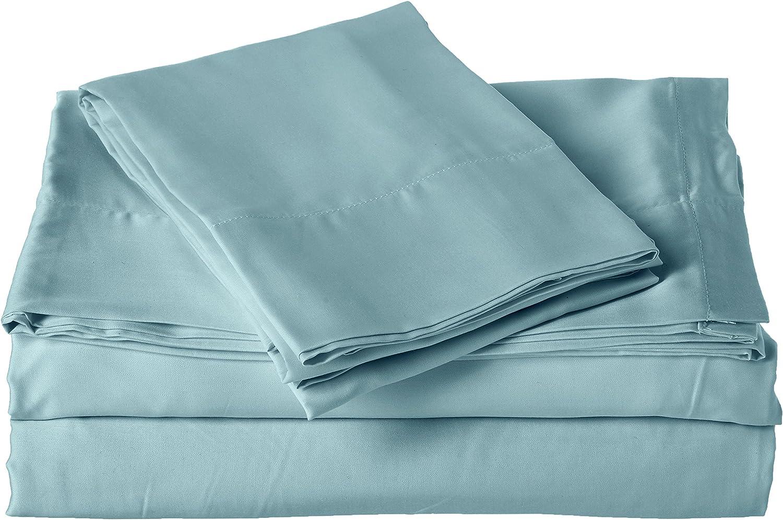 Brielle 100-Percent MicroModal from Beech Premium Sateen Sheet Set, King, bluee