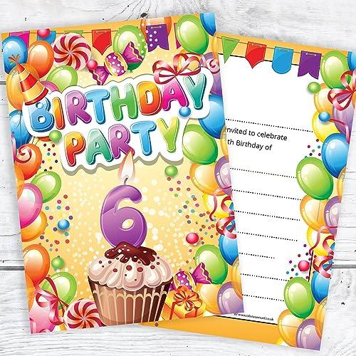 Childrens 6th Birthday Party Invites