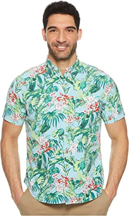 Tropical Oxford Short Sleeve Sport Shirt