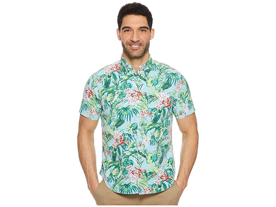 Polo Ralph Lauren Tropical Oxford Short Sleeve Sport Shirt (Palm Floral) Men