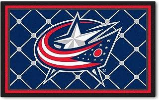 FANMATS NHL Columbus Blue Jackets Nylon Face 4X6 Plush Rug