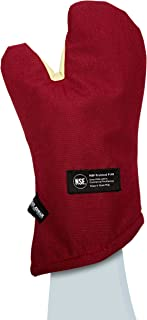 San Jamar KT0215 Cool Touch Flame Conventional High Heat Intermittent Flame Protection up to 900°F Oven Mitt, 15
