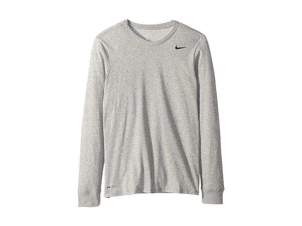 Nike Dry Training Long Sleeve T-Shirt (Dark Grey Heather/Dark Grey Heather/Black) Men