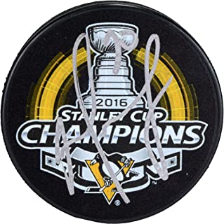 Matt Murray Pittsburgh Penguins 2016 Stanley Cup Champions Autographed 2016 Stanley Cup Champions Logo Hockey Puck - Fanatics Authentic Certified