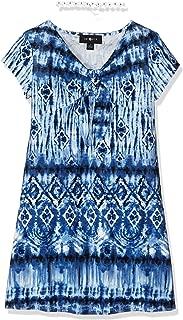 Amy Byer Girls' Big Short Sleeve Tie Front Dress