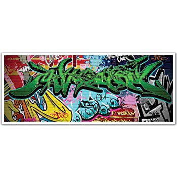 JP London uStrip Lite UCLT9105 Prepasted Mural Analog Stack Abstract Record Noise Electric Colour Splash 8.5-Feet by 1.5-Feet