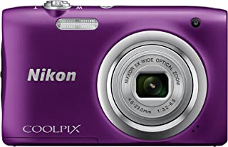 Nikon COOLPIX A100 - Cámara Digital (Cámara compacta 1/2.3 46-23 mm Auto) Morada