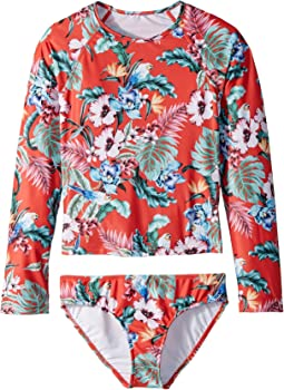 Seafolly Kids - Jungle Paradise Long Sleeve Surf Set (Little Kids/Big Kids)
