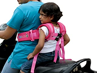 Kidsafe Children Motorcycle Safety Belt for Two Wheeler with Adjustable Straps or Kid Harness or Child Gear (Black)