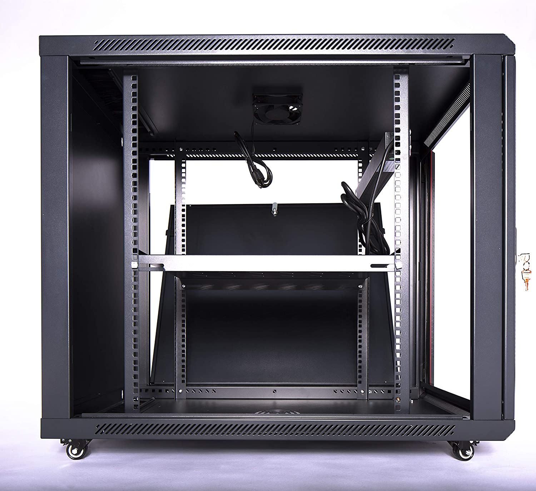 Sysracks 15U 35 Inch Depth Server Rack Cabinet Enclosure Fully Equipped for Server Equipment Fully Lockable Network IT 19 Inch Enclosure Box