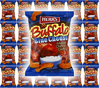 HERR'S Cheese Curls, 1oz Bag (Buffalo Blue Cheese Curls, 24-Pack)