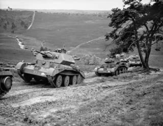 Home Comforts Cruiser Mk IV Tanks of 5th Royal Tank Regiment, 3rd Armoured Brigade, 1st Armoured Division, on Thur Vivid Imagery Laminated Poster Print 24 x 36