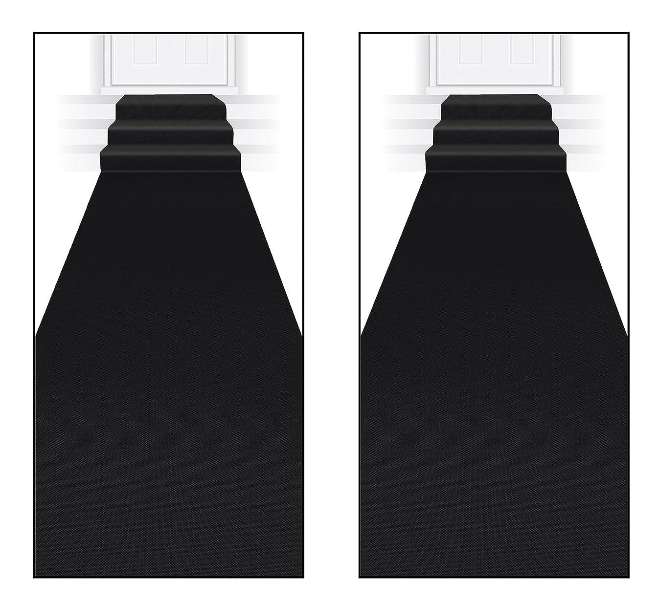 Beistle S50087-BKAZ2 Black Carpet Runner 2 Piece,