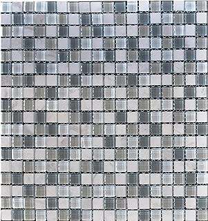 Glass Tile and Stone Iceland Mosaic Backsplash Bliss Glass