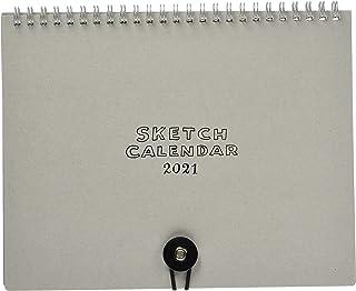 ラボクリップ 2021年 カレンダー 卓上 スケッチカレンダー グレー 2112V00-GY