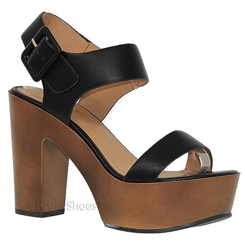 1b05df86175 Block Heel Platform Sandals Size 11: Amazon.com