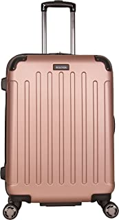 "Kenneth Cole Reaction Renegade 24"" Hardside Expandable 8-Wheel Spinner Checked Luggage, Rose Gold"