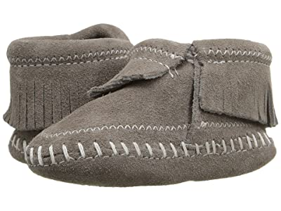 Minnetonka Kids Riley Bootie (Infant/Toddler) (Grey) Kids Shoes
