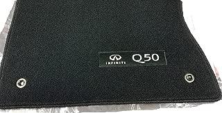 2014 TO 2017 Infiniti Q50 Genuine Factory Carpeted Floor Mats - Black/Graphite