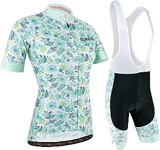 BXIO Maillot Ciclismo Mujer, Ciclismo Conjunto de Ropa con Culotte Pantalones Acolchado 3D para Deportes al Aire Libre Ciclo Bicicleta