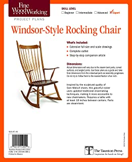 Fine Woodworking's Windsor-Style Rocking Chair Plan