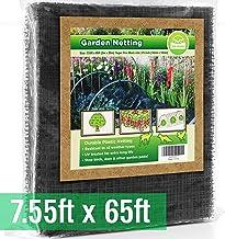 توری پرنده [وظیفه سنگین] از گیاهان و درختان میوه محافظت کنید - توری اضافی از باغ بسیار آسان است ، مبهم و قابل استفاده مجدد است - محافظت پایدار در برابر پرندگان ، گوزنها و سایر آفات (7.5x65 پا)