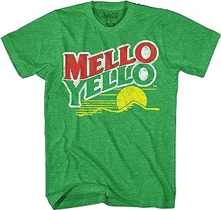 Coca-Cola Mello Yello Soda Pop Drink Funny Classic Vintage Mellow Yellow Apparel Logo Men's Adult Graphic Tee T-Shirt