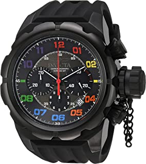 Invicta Men's Russian Diver Stainless Steel Quartz Watch with Silicone Strap, Black, 34 (Model: 22421)