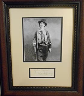 "William H Bonney""Billy the Kid"" autograph"
