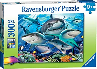 Ravensburger Smiling Sharks 300 Piece Jigsaw Puzzle for Kids – Every Piece is Unique, Pieces Fit Together Perfectly