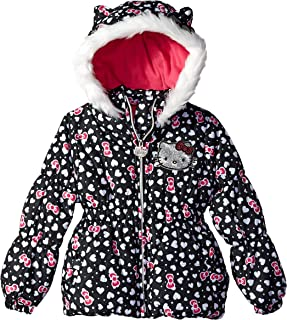 Hello Kitty Girls Puffer Jacket with Hood