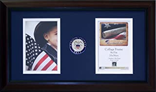 Timeless Frames US Armed Forces American Moments Collage Branch : Navy Photo Frame, Cherry