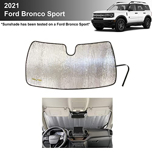 wholesale YelloPro Custom Fit Reflective Windshield Sunshade for 2021 discount Ford Bronco Sport SUV, Base, Big Bend, Outer Banks, Badlands, First Edition [Made online sale in USA] outlet online sale