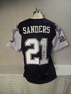 Deion Sanders Signed Dallas Cowboys Double Star White Autographed Jersey PRIMETIME Novelty Custom Jersey