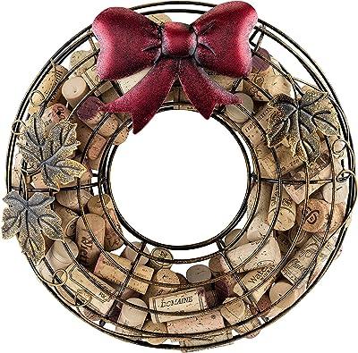 True Holiday Wreath Wine Cork Holders, Metallic