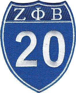 Zeta Phi Beta 20 Shield Sign Iron-On Patch [Blue - 3.5