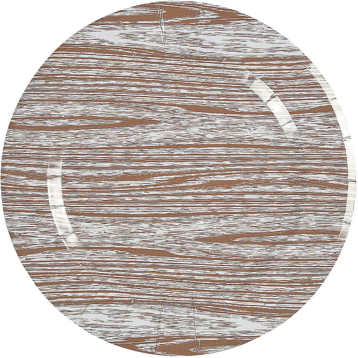 Fun Express - Max 86% OFF Faux Wood Paper Part 25pc for Wedding Max 65% OFF Chargers