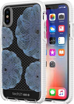 TECH21 EVO CHECK EVOKE EDITION CASE FOR IPHONE X - CLEAR/BLUE